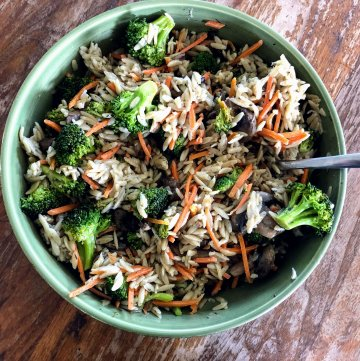 Broccoli and Orzo Salad