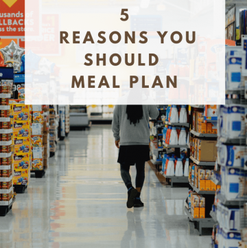 5 Reasons you should Meal Plan | cassierauk.com