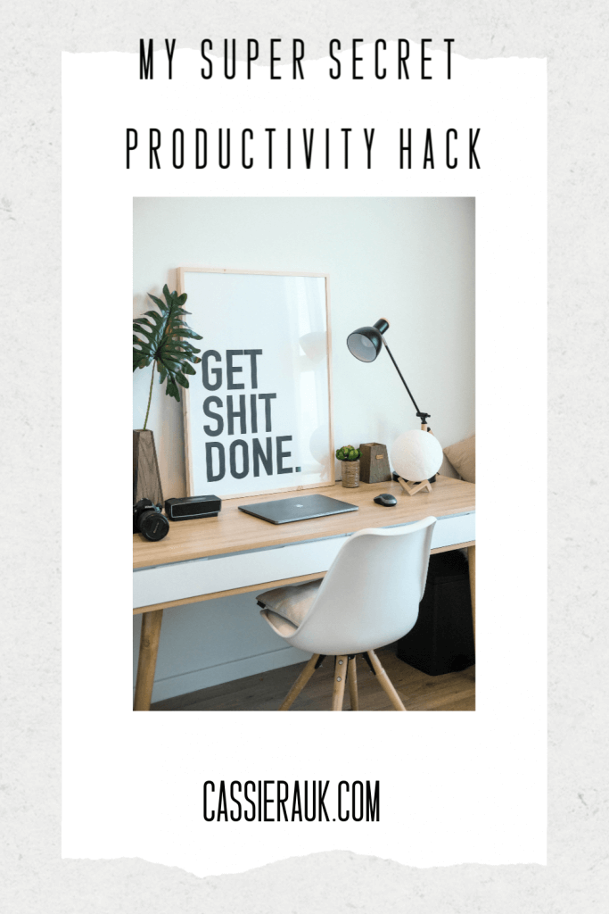My Super Secret Productivity Hack | CassieRauk.com